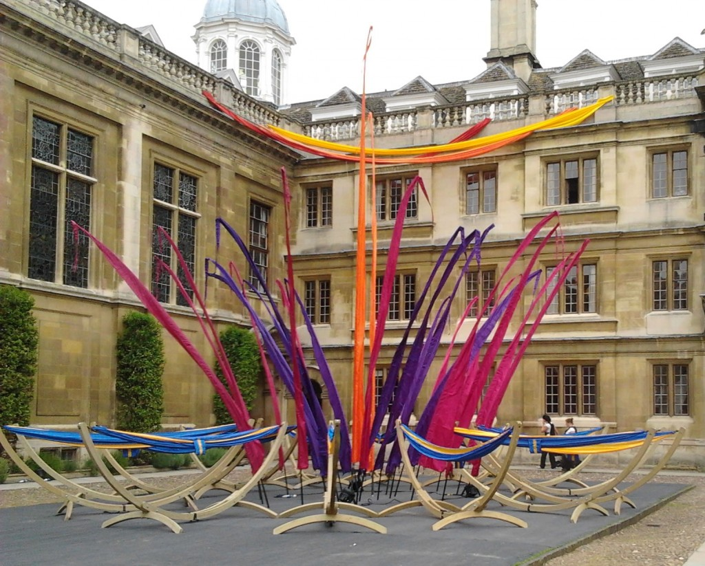 Hammock flower at May Ball Clare College, Cambridge